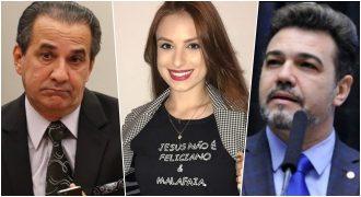 Pr. Silas Malafaia, Patricia Lélis e deputado Marco Feliciano