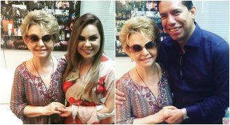 Yvelise de Oliveira com Sarah Farias e Pr. Anderson do Carmo (Fot: Reprodução/Instagram)