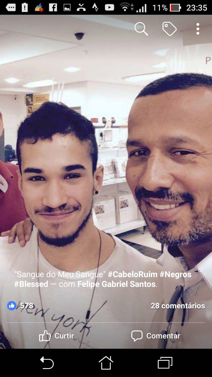 Pastor Reginaldo Martins com o filho