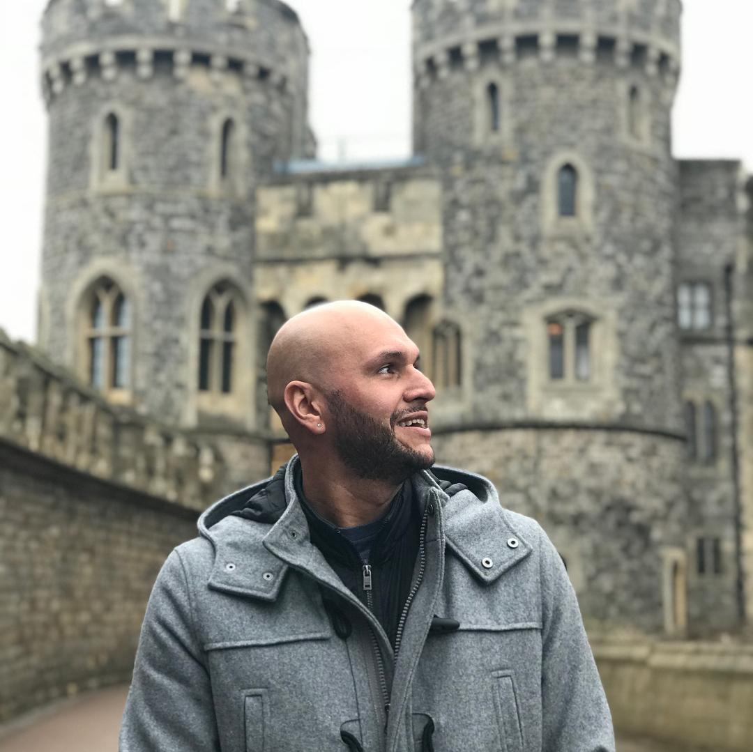 Dayan Alencar no castelo de Windsor, na Inglaterra (Reprodução:Instagram)