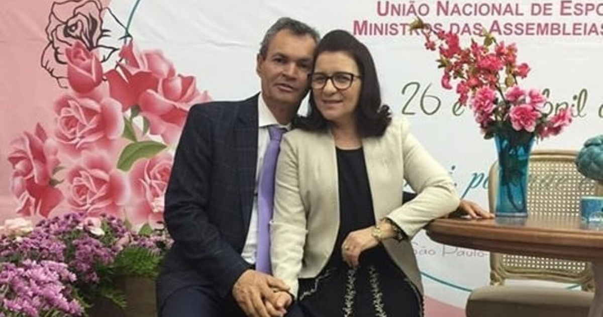 Eliã Oliveira e o esposo (reprodução)