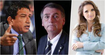 Magno Malta, Bolsonaro e Lauriete (Reprodução)