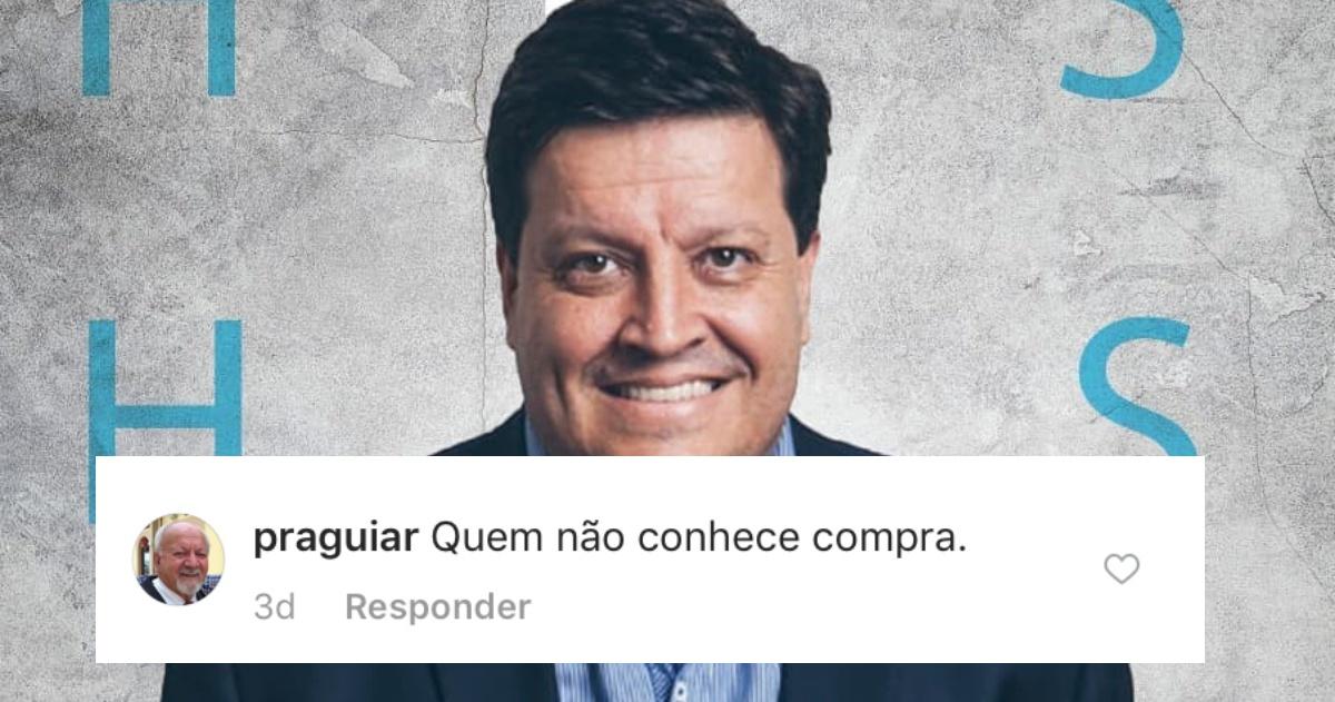 Pastor Jocymar Fonseca confrontado na web (Reprodução)