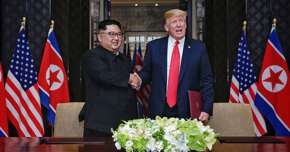 donald trump e kim jong un (Reprodução)