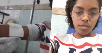 Cantora gospel Kemilly Santos no hospital (Reprodução)