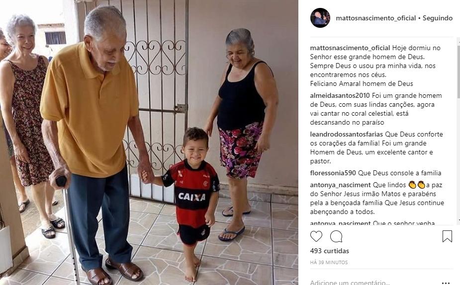 Homenagem de Mattos Nascimento a Feliciano Amaral