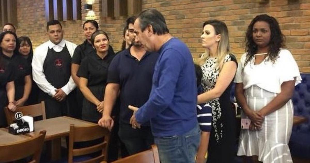 Pastor SIlas Malafaia no restaurante da filha