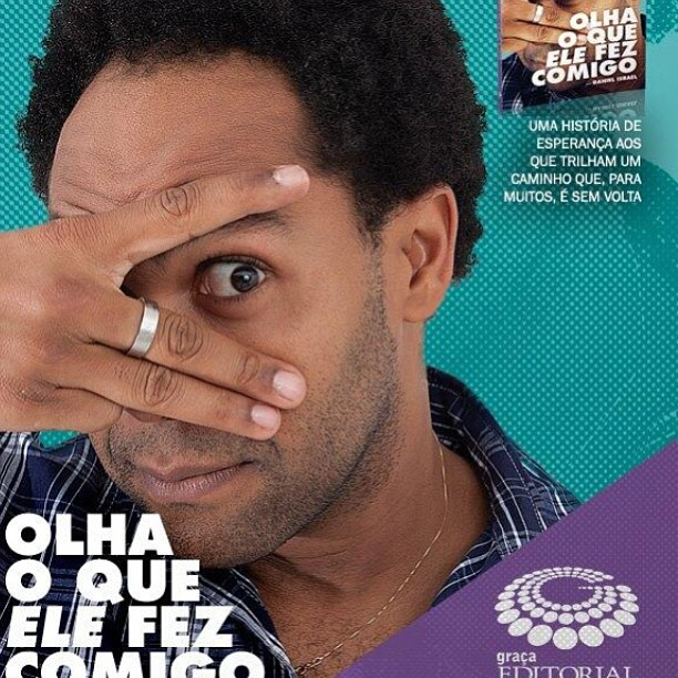 Capa do livro do cantor gospel Thalles Roberto