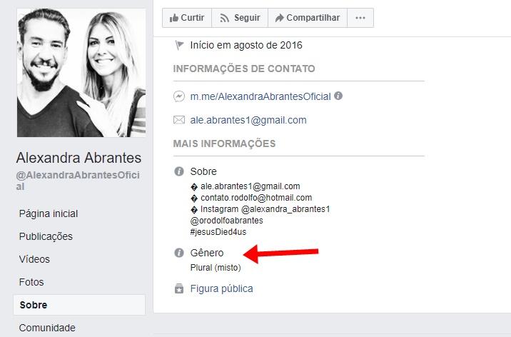 Print do Facebook de Alexandra Abrantes