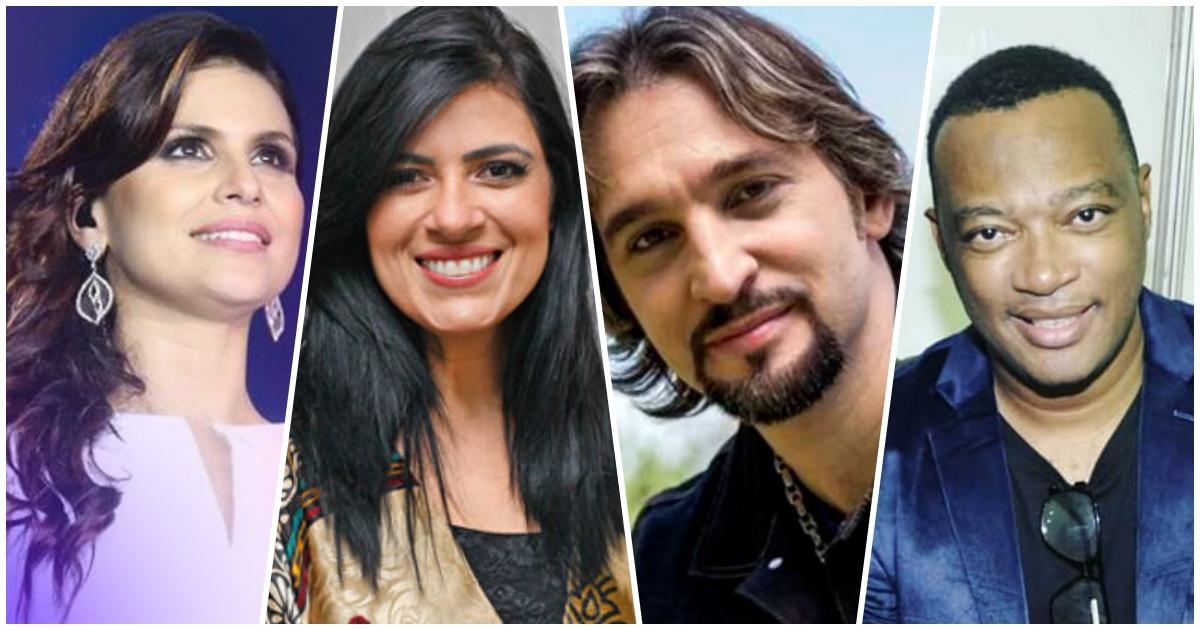 Aline Barros, Fernanda Brum, PG, Marquinhos Gomes