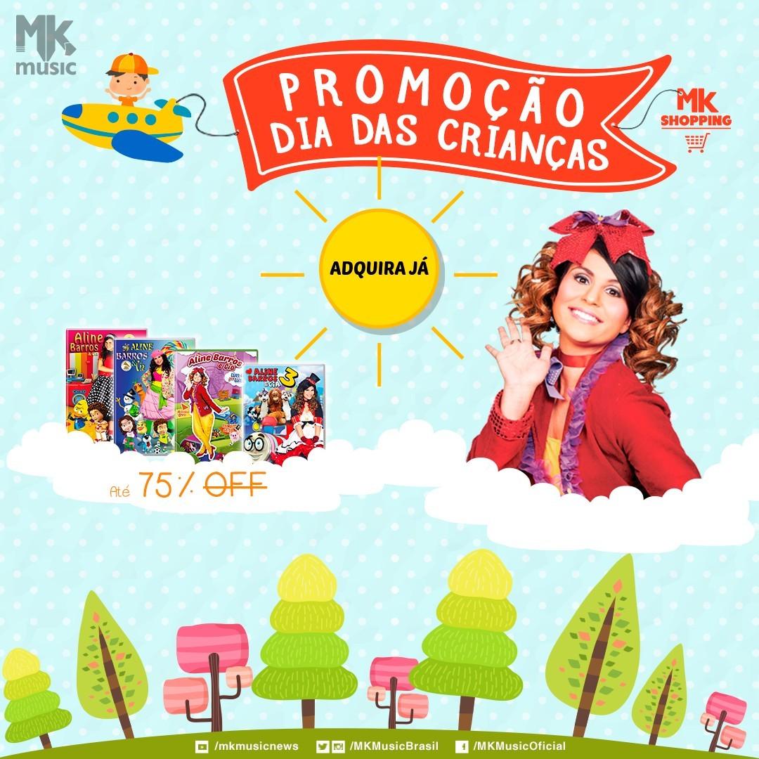 Banner da MK sobre produtos de Aline Barros