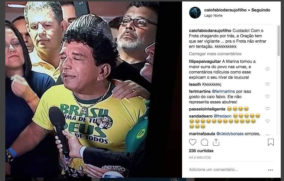 Post feito pelo Caio Fábio em seu instagram (Reprodução Instagram)