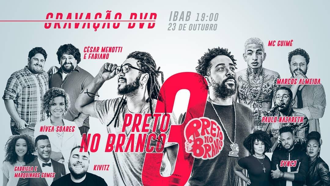Primeiro cartaz da gravação do DVD Preto no Branco 3 (Reprodução Instagram)