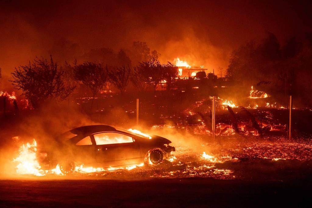 Cidades devastadas pelo incêndio (Reprodução Internet)
