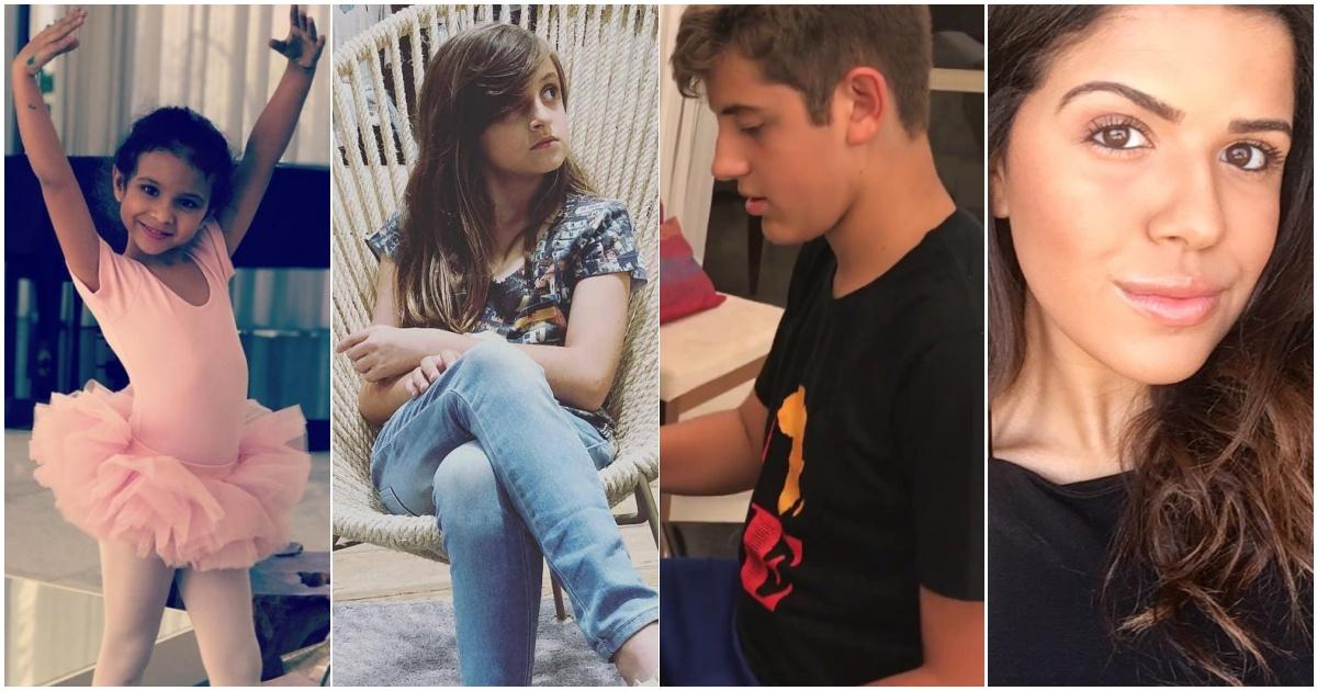 Maria, Laura, Isaac e Jay (Reprodução Instagram)