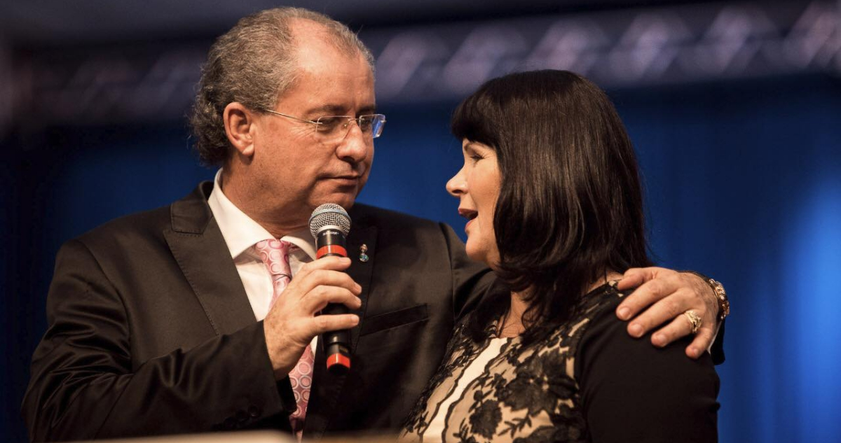 Pastor Reuel Bernardino e a esposa