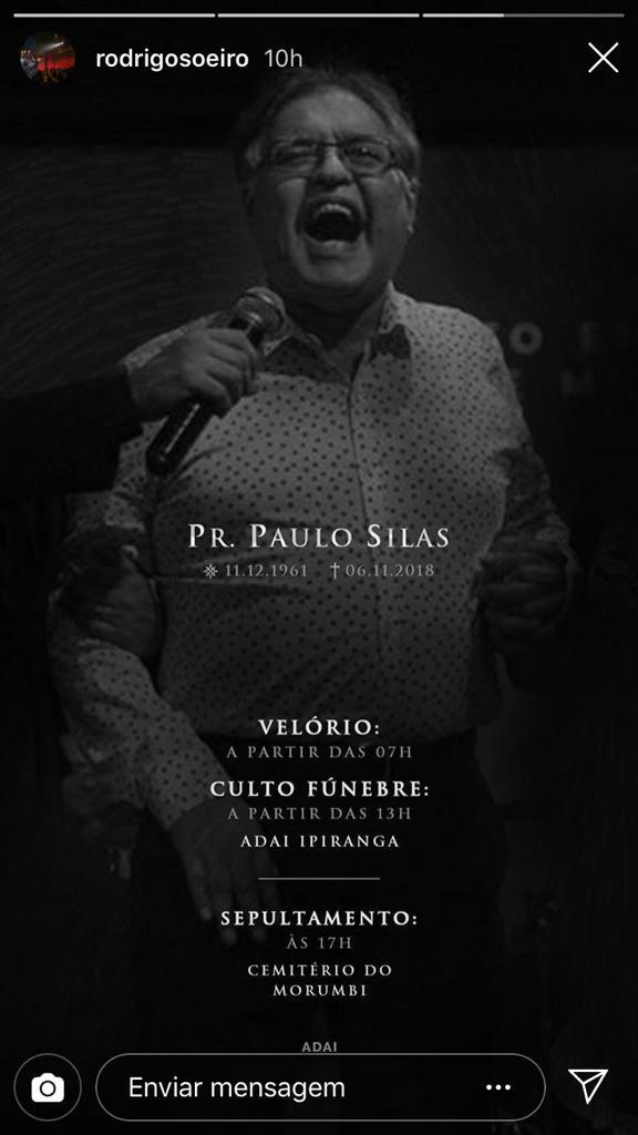 Pastor Paulo Silas (Reprodução)