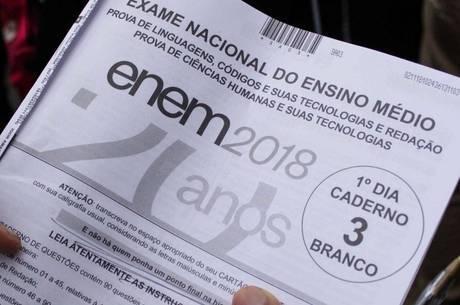 Prova do ENEM 2018 (Reprodução)