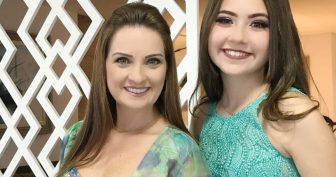Cantora Lauriete e sua filha Julia Acsa (Reprodução Instagram)