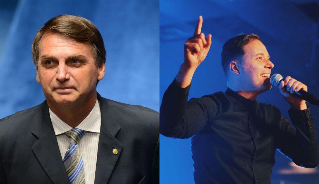 Bolsonaro e André Valadão (Reprodução)