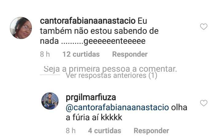 Cantora Fabiana Anastácio esclarecimento