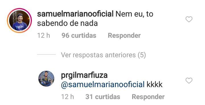 Samuel Mariano esclarecimento