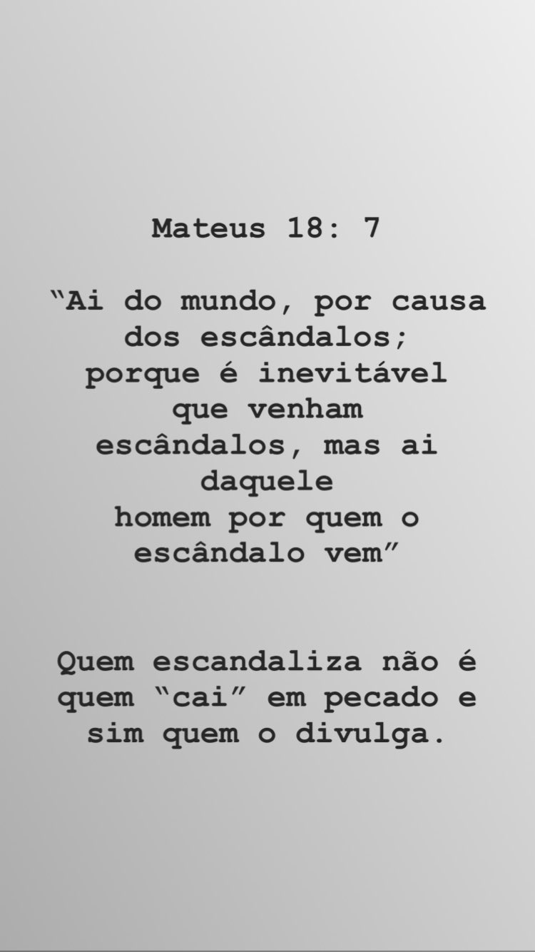 Stories do pastor Tiago Brunet