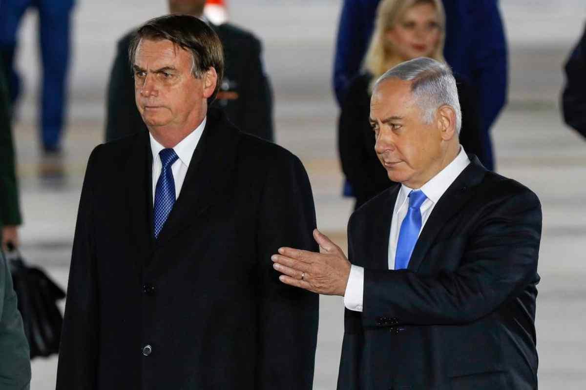 Presidente Jair Bolsonaro Benjamin Netanyahu