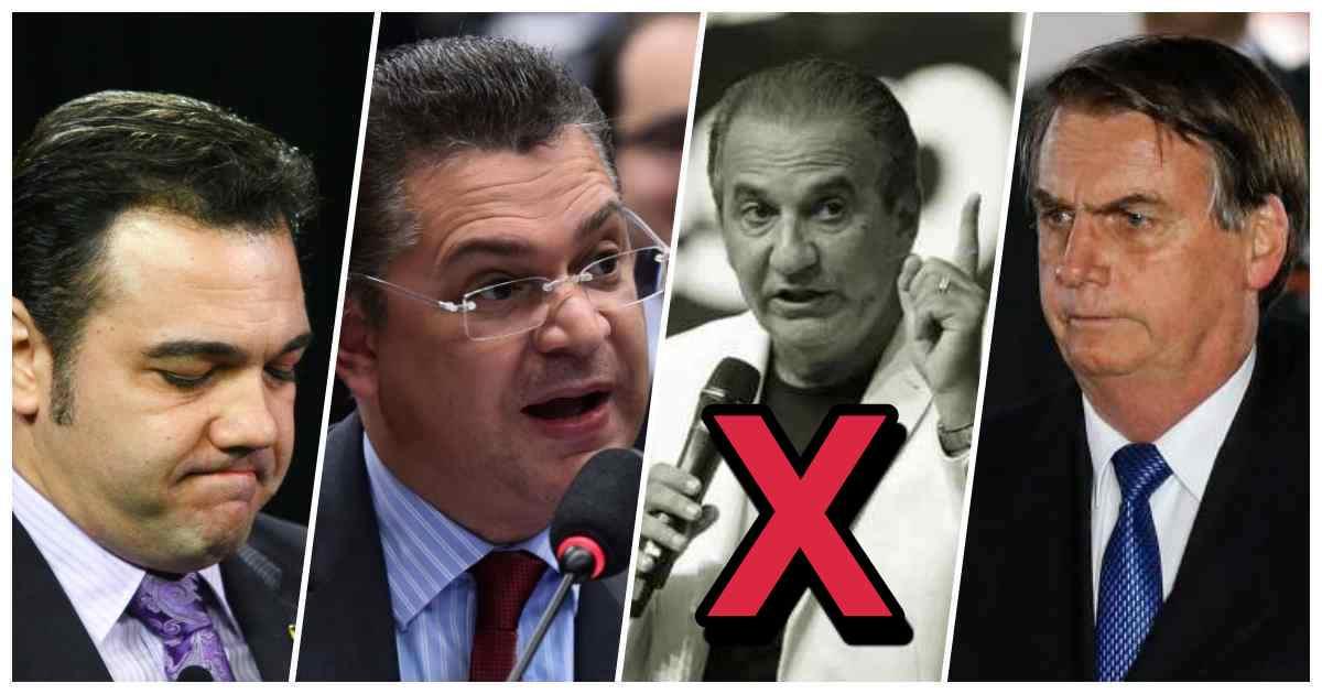 Pastor Marco Feliciano, Deputado Sóstenes Cavalcante, pastor Silas Malafaia e o presidente Jair Bolsonaro