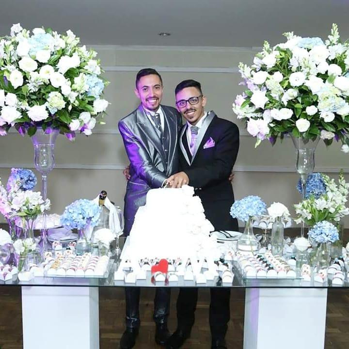 Maikon Balbino e Alan no casamento (Reprodução)