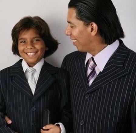 Daniel, único filho biológico de Anderson do Carmo