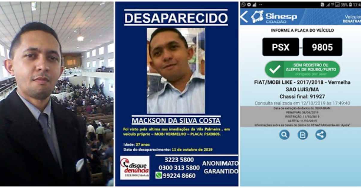 Pastor desaparecido no Maranhão