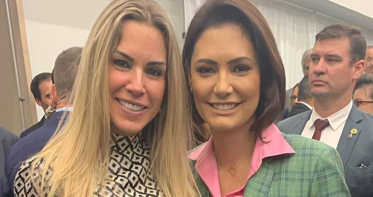 Joana Prado e Michelle Bolsonaro (Reprodução)